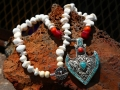Red coral/sponge coral/ turquoise/magnesite