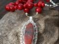 Red coral/RARE Sonora Sunset (Chrysocolla Cuprite)