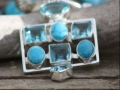 Turquoise and blue crystal